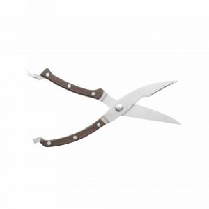 Ножницы BergHOFF для разделки птицы с рукоятью из темного дерева