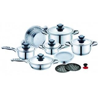 Набор посуды из нержавеющей стали 17 пр. ROYAL RL-Z8317