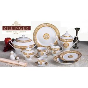 Столовый сервиз на 6 персон 57 пр Zillinger Varro Gold prima collezione zl-707