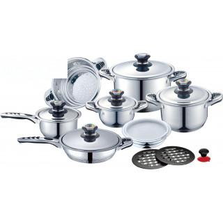 Набор посуды 17 пр. из нержавеющей стали Z.E.P.ROYAL ZP-171