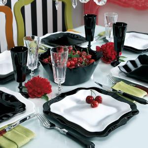 Столовый сервиз Luminarc AUTHENTIC BLACK&WHITE 38 предметов