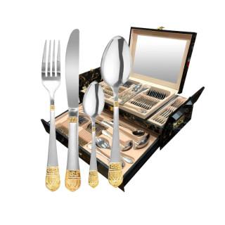 Набор столовых приборов Royal 72 пр. в деревянном чемодане RL-7854