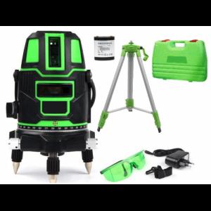 Лазерный уровень комплект со штативом RST-411 зеленый