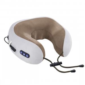 uTravel gray подушка для путешествий, массажная подушка, роликовый массаж, прогрев, автоотключение, GESS-136 gray