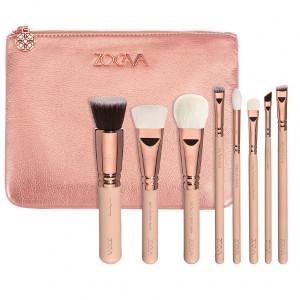 Кисти ZOEVA Makeup Rose Golden Luxury Set VOL 2. 8 brushes