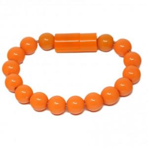 Браслет-зарядка Bracelet Charging Line (Оранжевый) для Apple