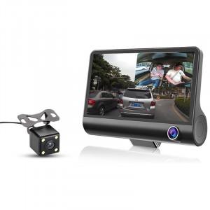 Автомобильный видеорегистратор c 3-я камерами eplutus DVR-H33