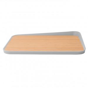Доска разделочная бамбуковая (с углом) 41*30,5*4см Leo