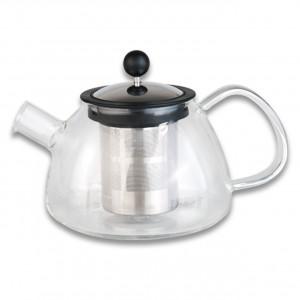 Заварочный чайник стеклянный с металлическим ситечком 0,8л Studio