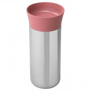 Термокружка 330мл розовая Leo