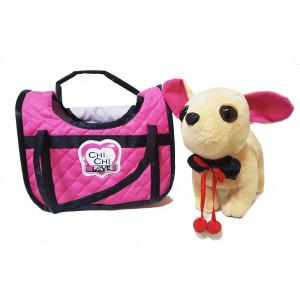 Плюшевая игрушка Chi Chi Love собачка Чихуахуа в сумке 20 см