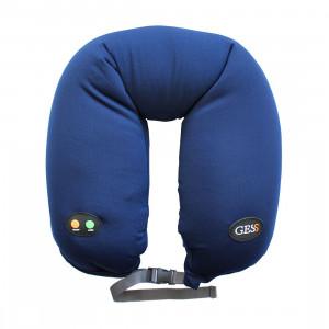 Массажная подушка uNeck PRO blue, вибрационный массаж, 6 режимов массажа, работа от батареек, автоотключение, GESS