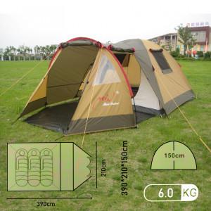 Туристическая 3-4 местная палатка с залом MIMIR-1504 Mimir Outdoor