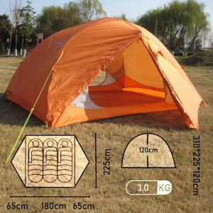 Туристическая 3-местная палатка X-ART6103 Mimir Outdoor